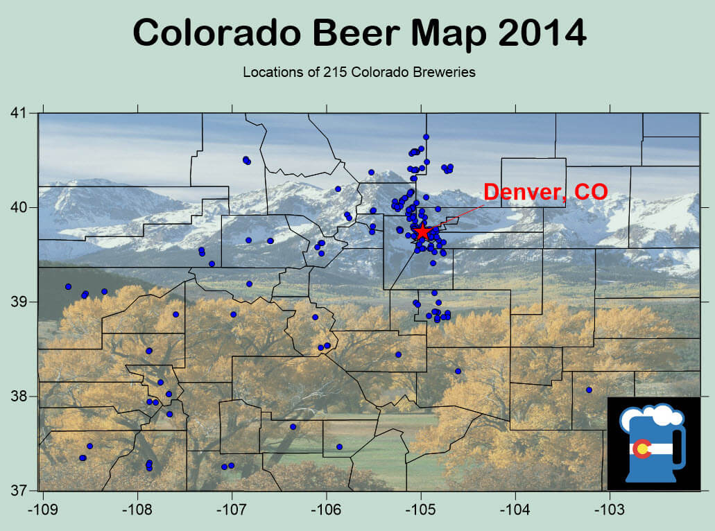CO Beer Map 2014