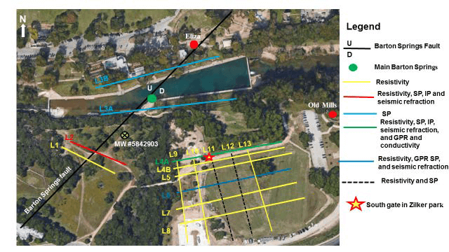Geophysical Profile - Barton Springs Pool
