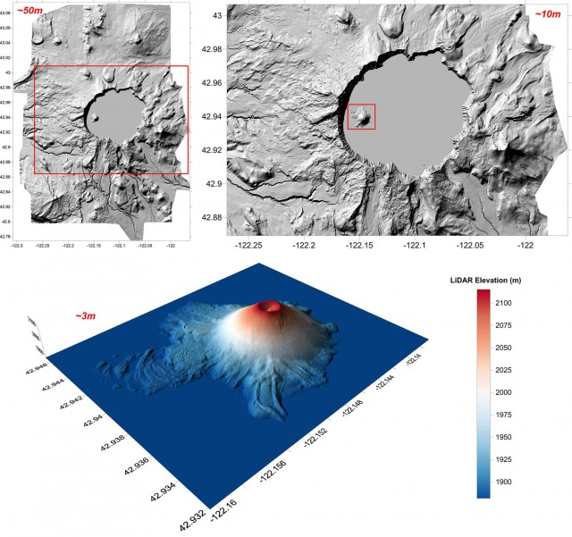 Surfer 2D and 3D mapping, modeling, and analysis software: LiDAR data for Crater Lake