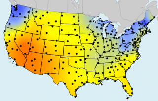The Sunniest Areas in the U.S. Identified With MapViewer