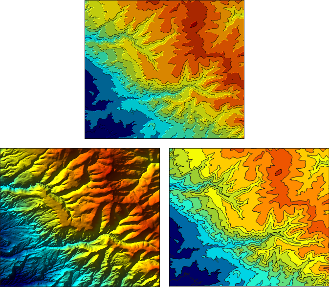 Variations in Hillshading:  Creating Tanaka-style Illuminated Contour Maps