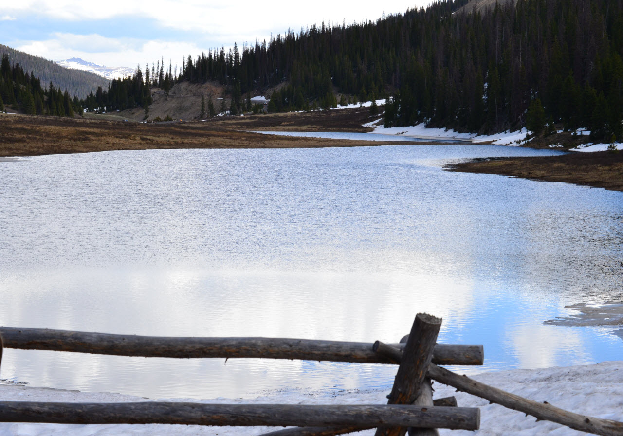 Image of Poudre Lake, near Milner Pass, shown during summer after wet winter of 2016