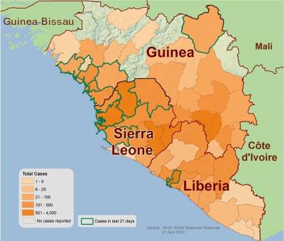 A Graphical Representation of the 2014 West Africa Ebola Outbreak