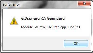 Have you experienced a GsDraw error (1): GenericError?