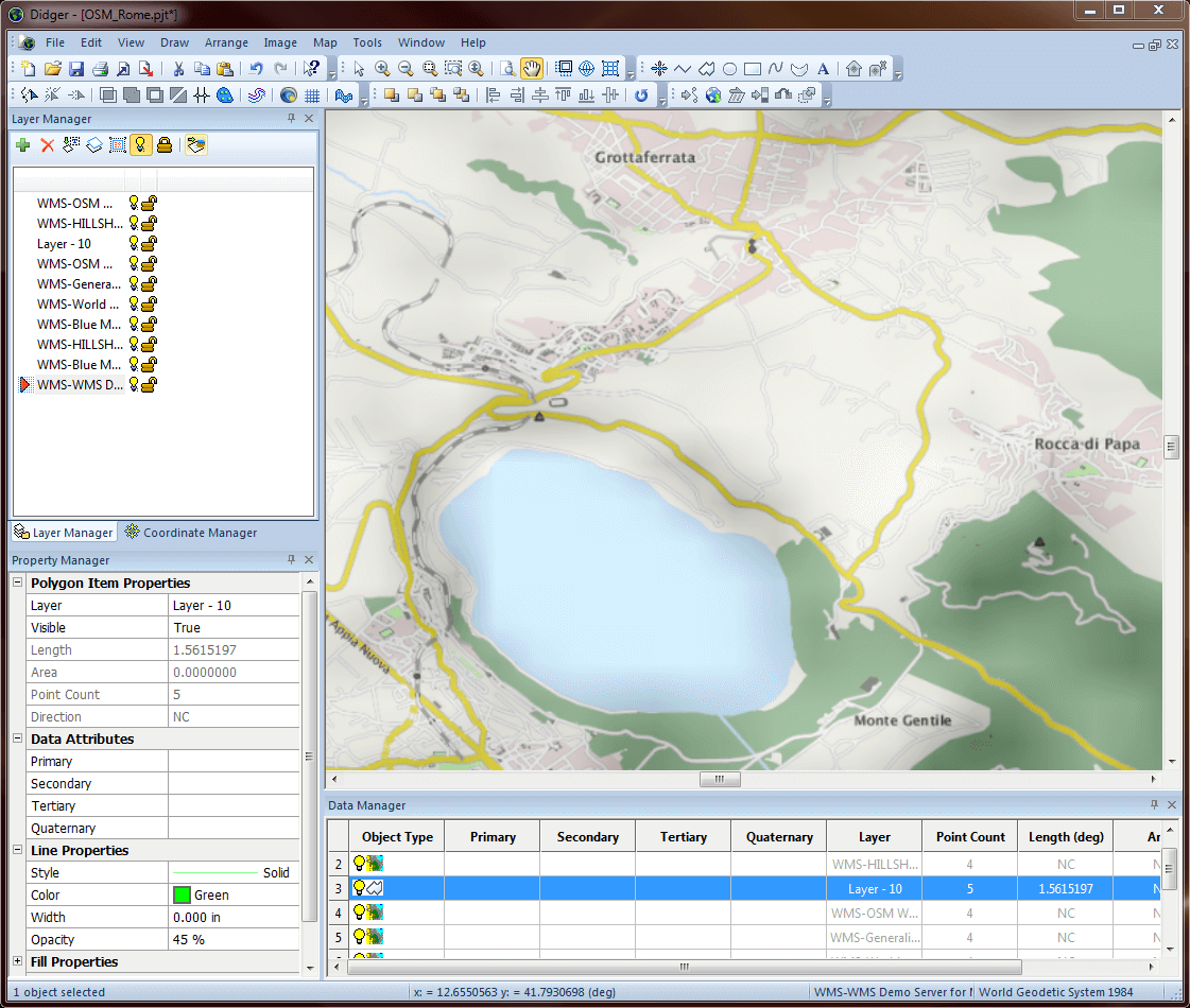 Didger-Georeferencing, digitizing, and coordinate conversion software: The intuitive user interface makes it easy to work with Didger