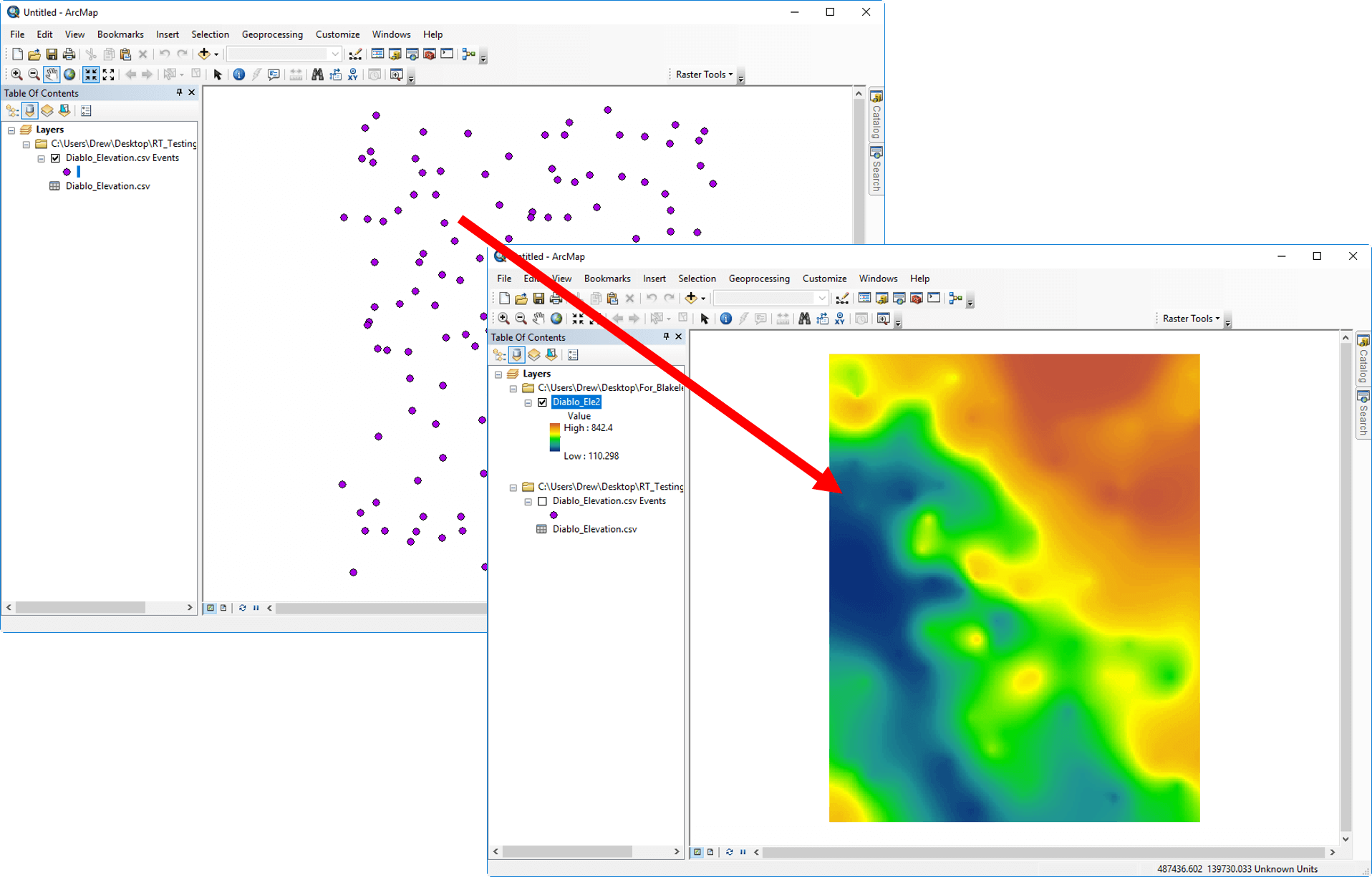 Raster Tools-Esri ArcGIS add-in to create precise and accurate raster datasets from XYZ data