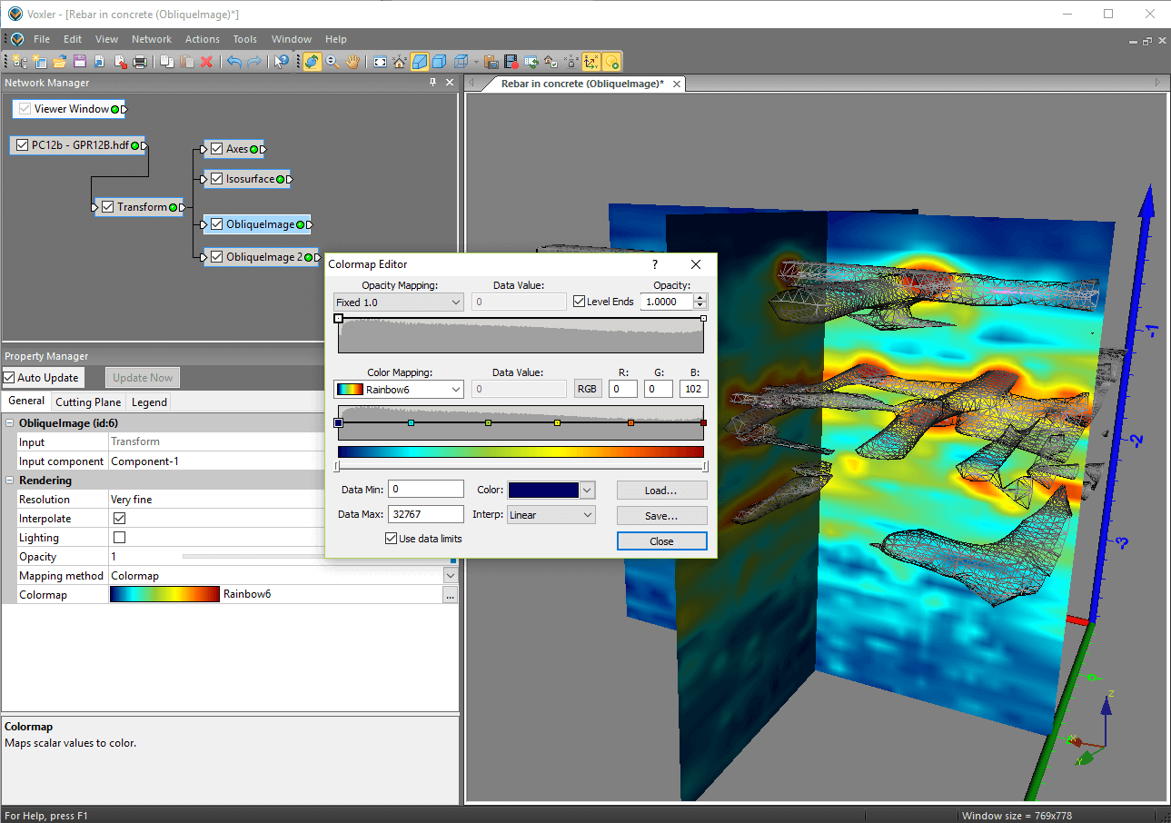 Voxler-3D geologic and scientific modeling software: The intuitive user interface makes it easy to create 3D models.