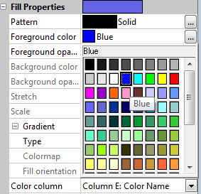 Grapher fill colors