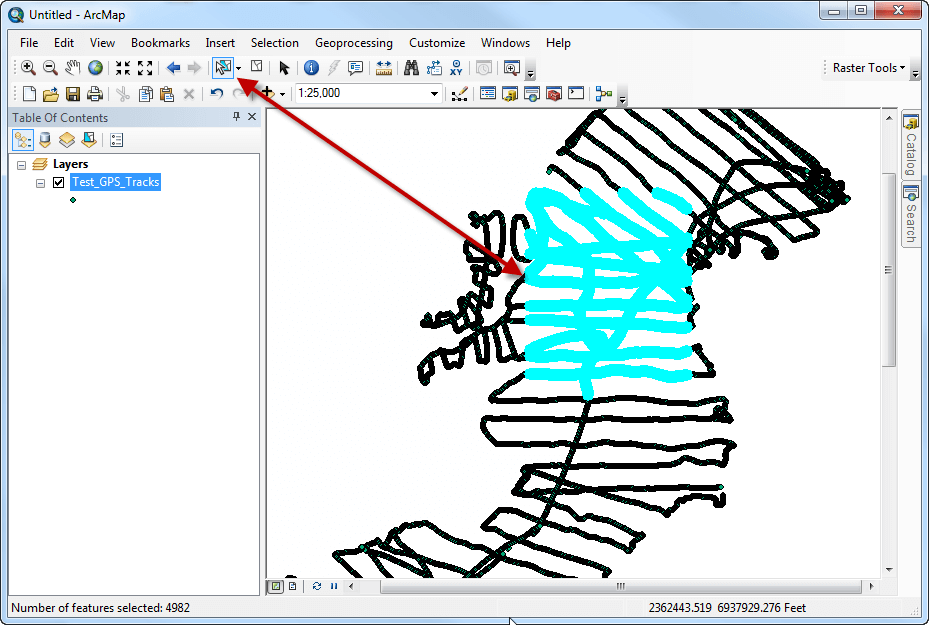 Raster Tools - Subset of the data