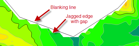 jagged blanked edge