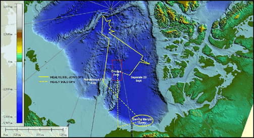 Mapping Bathymetric Features in the North Pole