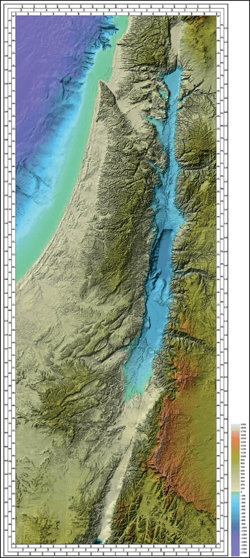 Surfer Grid Map - Israel