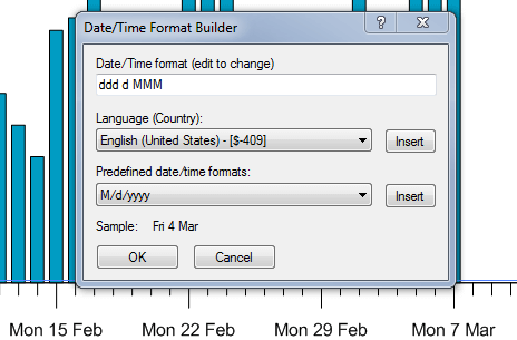 Use the Date/Time Format Builder to set date/time formats