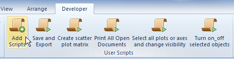 Add custom scripts to the toolbar