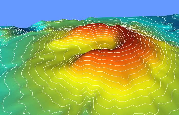 Voxler - Contours on a 3D Surface