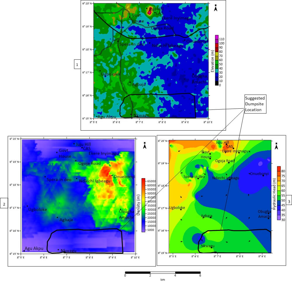 A Nigerian geological and geophysical services company used Surfer to create a breakthrough ground water flow map for an area in the southeastern part of Nigeria, Africa.