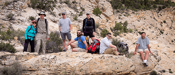 Golden Software team hiking
