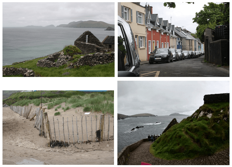 Day 3 in Paddywagon 9-day tour of Ireland: Slea Head drive past Dunquin Harbour, Dingle, and Inch Beach.