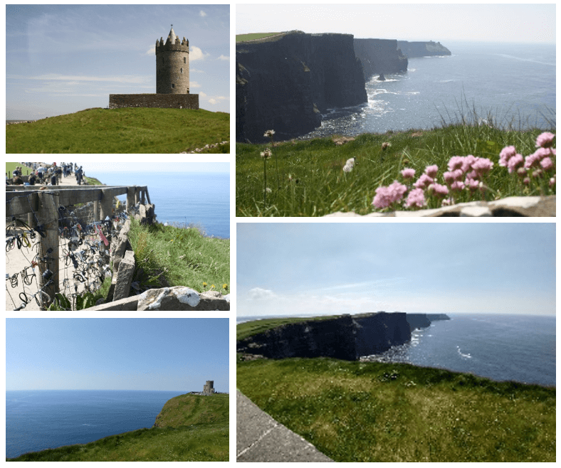 Day 5 in Paddywagon 9-day tour of Ireland: Cliffs of Moher, which have shown up in movies like the Princess Bride and Harry Potter and the Half Blood Prince.
