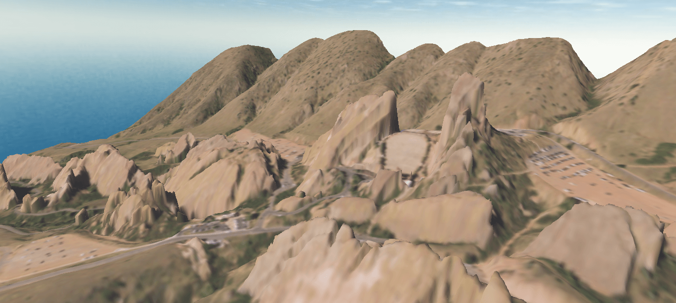 A 3D model of Red Rocks amphitheater created in Surfer.
