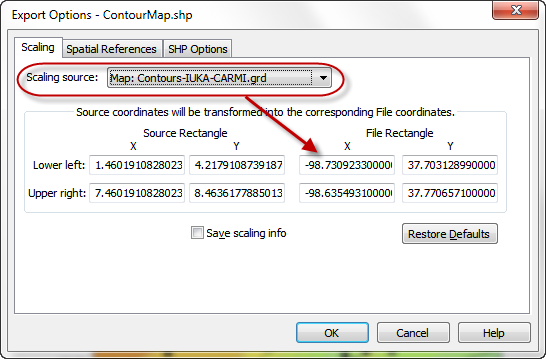 Creating a contour map in Surfer to export into ESRI ArcMap