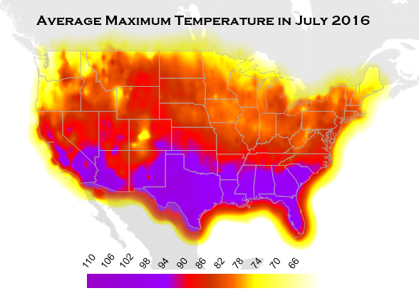 Mapping the Summer Heat Wave in Surfer - Golden Software Blog