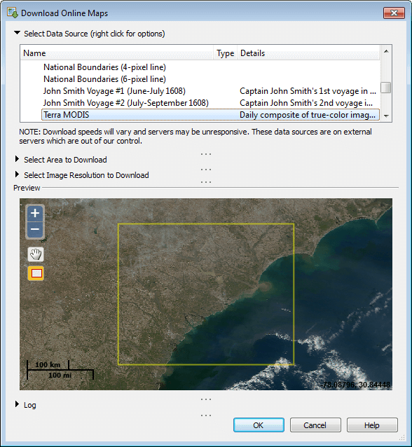 MapViewer-Thematic mapping and spatial analysis software: Download online maps from any WMS server
