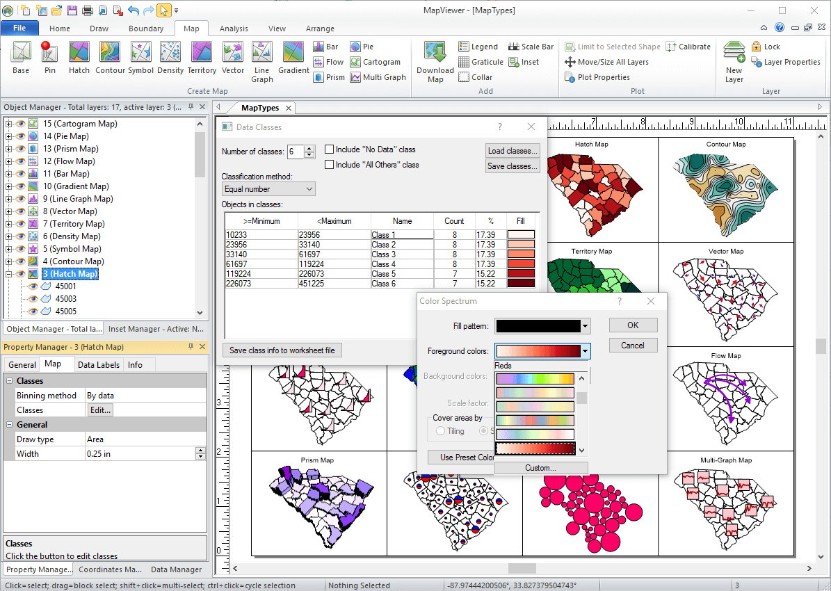 MapViewer-Thematic mapping and spatial analysis software: The intutivie user interface makes it easy to create maps in minutes